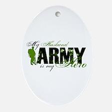 Husband Hero3 - ARMY Ornament (Oval)