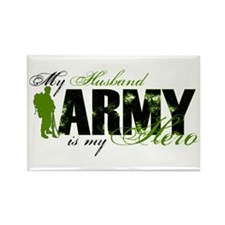 Husband Hero3 - ARMY Rectangle Magnet