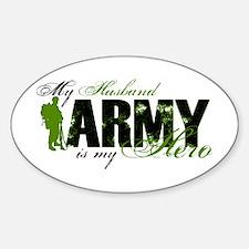 Husband Hero3 - ARMY Sticker (Oval)