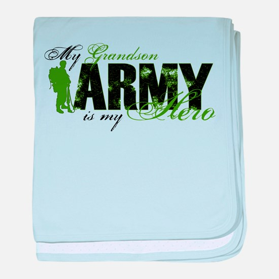 Grandson Hero3 - ARMY baby blanket