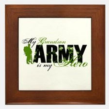 Grandson Hero3 - ARMY Framed Tile