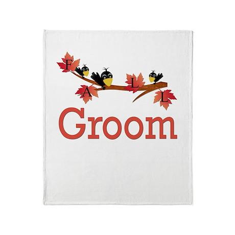 Autumn Groom Throw Blanket