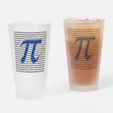 1000 Digits of Pi Drinking Glass