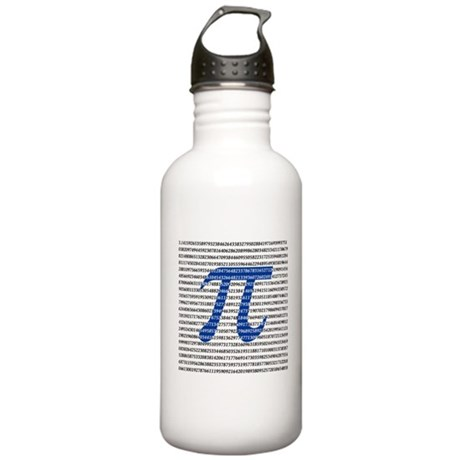 1000 Digits of Pi Stainless Water Bottle 1.0L