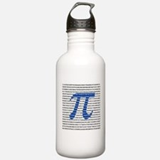 1000 Digits of Pi Water Bottle