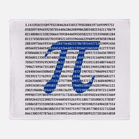 1000 Digits of Pi Throw Blanket