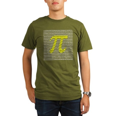 1000 Digits of Pi Organic Men's T-Shirt (dark)