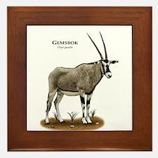 Gemsbok Framed Tile