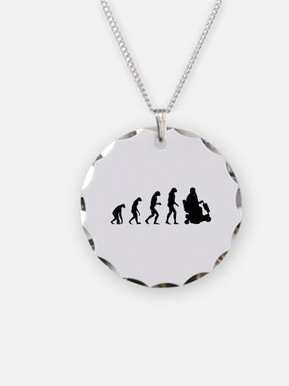 Evolution Necklace Circle Charm