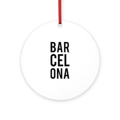 Barcelona Ornament (Round)