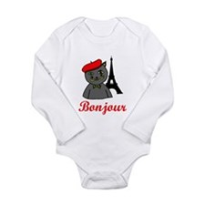 Bonjour Paris Long Sleeve Infant Bodysuit