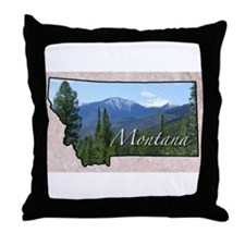 Cute Montana Throw Pillow