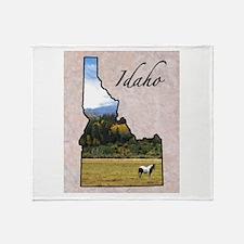 Funny Idaho Throw Blanket
