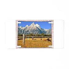 Cute Wyoming state Aluminum License Plate