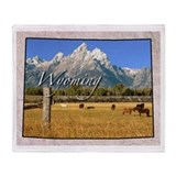 Wyoming Fleece Blankets