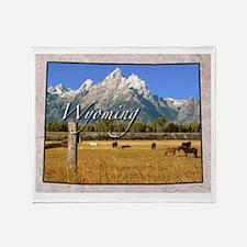 Cute Wyoming Throw Blanket