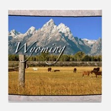 Cute Wyoming Tile Coaster