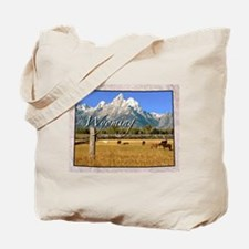 Cute Wyoming cowboys Tote Bag