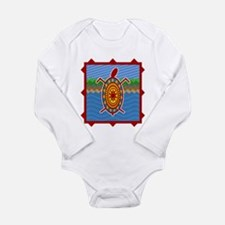 Southwestern Sea Turtle Scene Long Sleeve Infant B