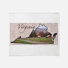 Unique Virginia cavaliers Throw Blanket