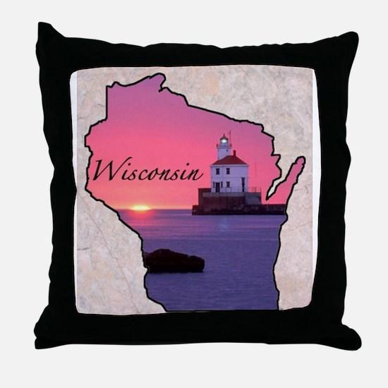 Cute Wisconsin Throw Pillow