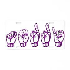 Terri -ASL Aluminum License Plate