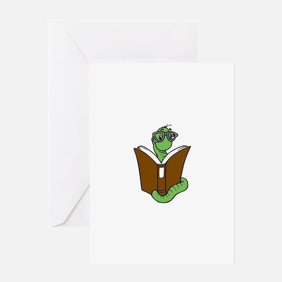 Funny Bookworm Greeting Card