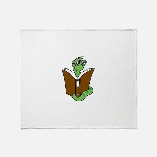 Cool Bookworm Throw Blanket