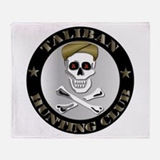 Emblem - Taliban Hunting Club Throw Blanket
