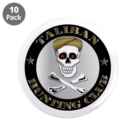 "Emblem - Taliban Hunting Club 3.5"" Button (10 pack"