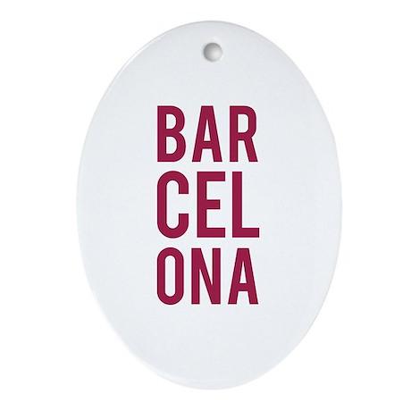 Barcelona Ornament (Oval)