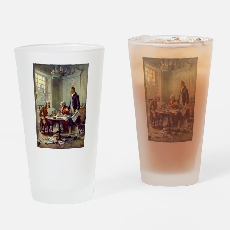 Founding Fathers Drinking Glass