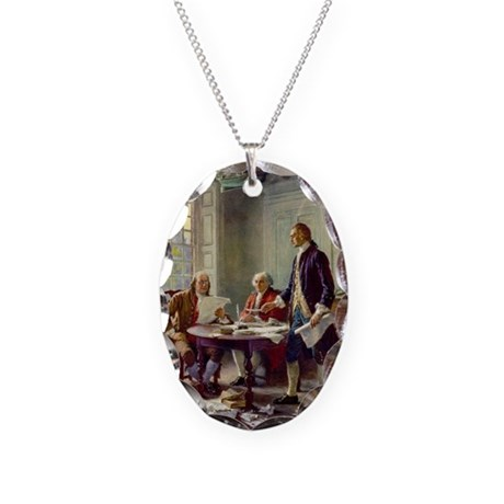 Founding Fathers Necklace Oval Charm
