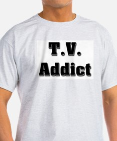 Television Addict Ash Grey T-Shirt