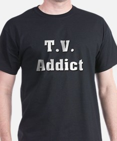 Television Addict Black T-Shirt