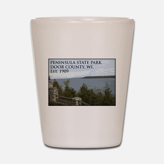 Peninsula State Park Shot Glass