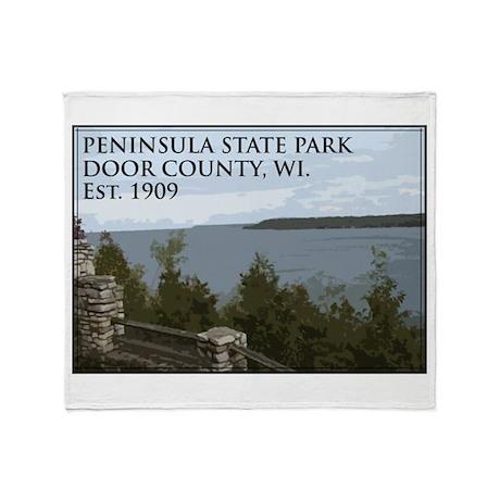Peninsula State Park Throw Blanket