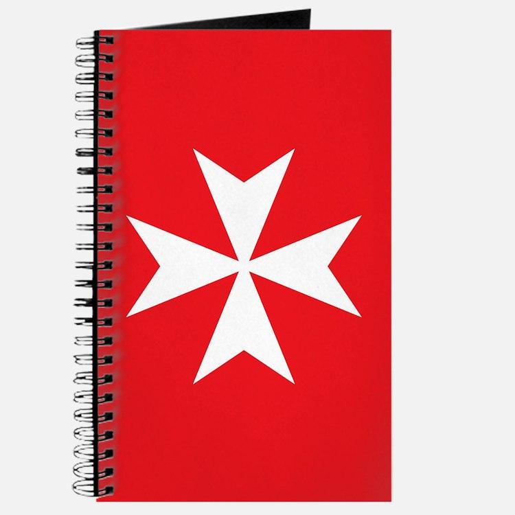 White Maltese Cross Journal