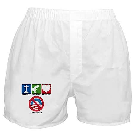 Anti Obama 2012 Boxer Shorts