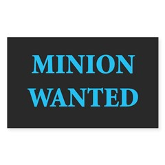 Minion Wanted Rectangle Decal