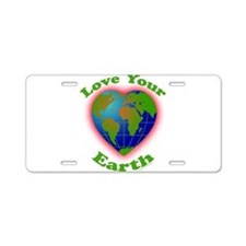LoveYourEarth Aluminum License Plate