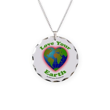 LoveYourEarth Necklace Circle Charm