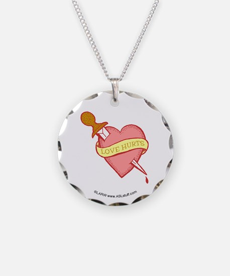 Tattoo Heart Necklace