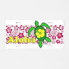Aloha Hawaii Turtle Aluminum License Plate