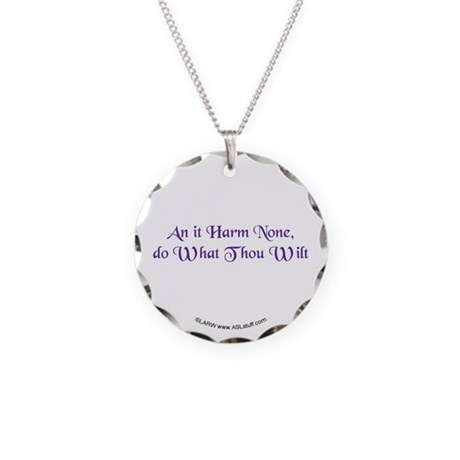 Wiccan Rede Necklace Circle Charm