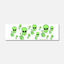 Peace Alien Car Magnet 10 x 3