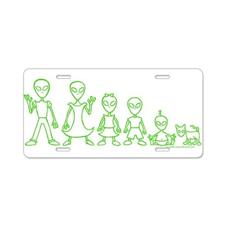AlienFamily Aluminum License Plate