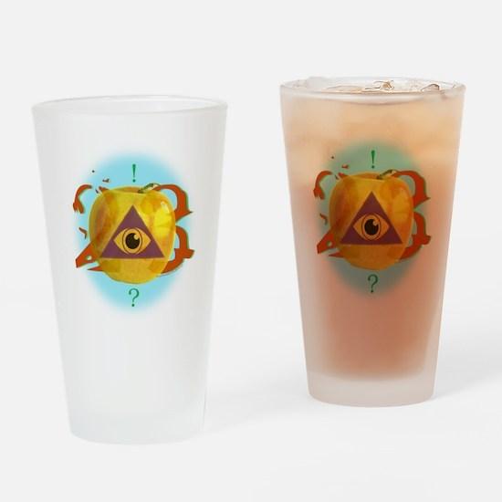 Illuminati Golden Apple Drinking Glass