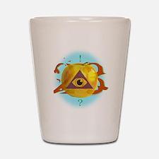 Illuminati Golden Apple Shot Glass