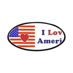 Heart America Flag Patches